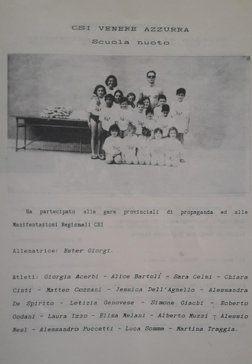 CSI Venere Azzurra scuola nuoto