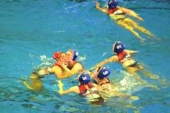 Venere Azzurra Serie B festeggiamenti in vasca